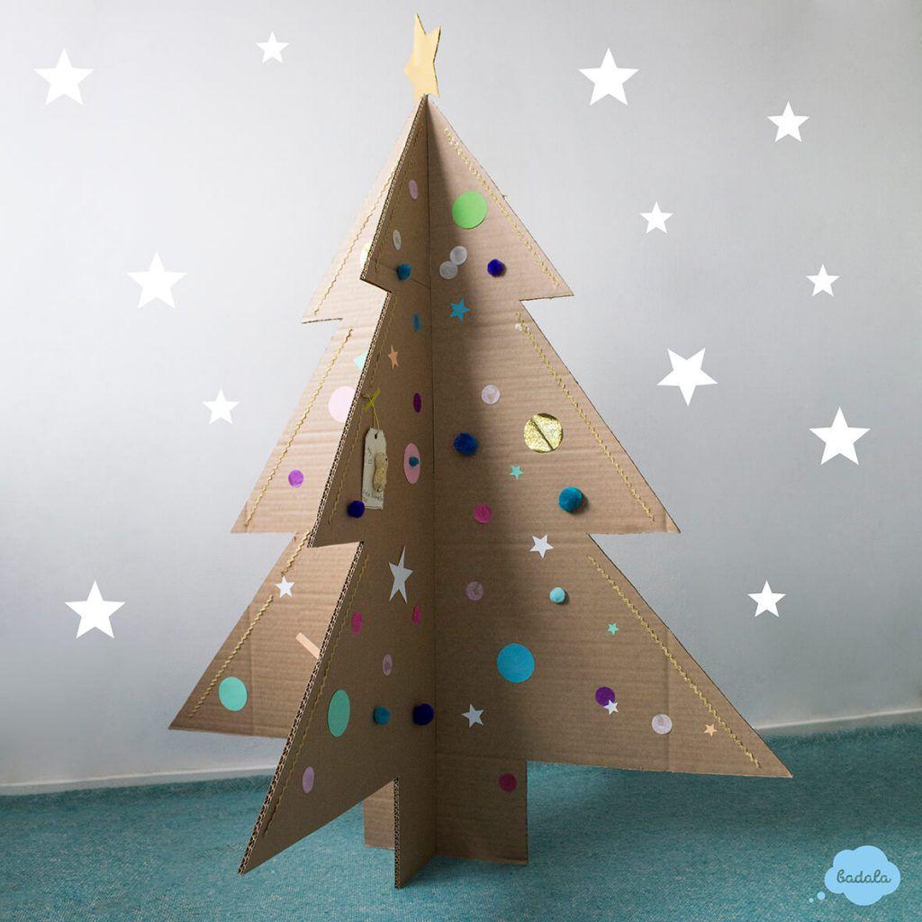 Diy Christmas Tree Made Of Cardboard Badala Sticker